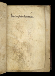 Ownership Inscription Of Rochester Cathedral, In A Copy Of Bede's History Of The English Church